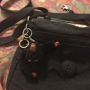 Kipling, Black on Black Washable Crossbody